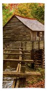 Cable Mill Cades Cove Smoky Mountains Tennessee In Autumn Bath Towel