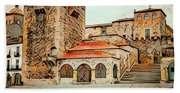 Caceres Spain Artistic Hand Towel