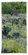 Cactus And Willow-wildflowers Of Texas Bath Towel
