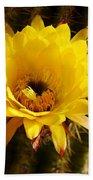Cactus Bloom Yellow 050914a Bath Towel