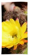 Cactus Blooms Yellow 050214g Bath Towel