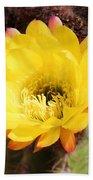 Cactus Blooms Yellow 050214k Bath Towel
