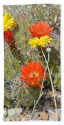 Cactus Flowers Bath Towel
