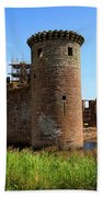 Caerlaverock Castle, Scotland Bath Towel