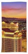 Caesars Palace After Sunset 6 To 3.5 Aspect Ratio Bath Towel
