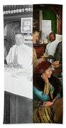 Cafe - Temptations 1915 - Side By Side Bath Towel
