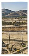 California Oil Field 14pdxl084 Bath Towel