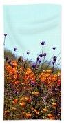 California Poppies And Wildflowers Bath Towel