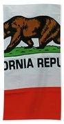 California Republic Flag Bath Towel