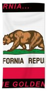 California State Flag Bath Towel