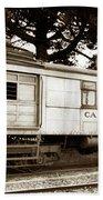 California Western  M 100 Gas Railcar  Skunk Train  Circa 1930 Bath Towel