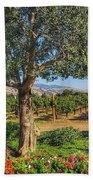 California Wine Country Bath Towel