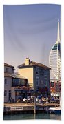 Camber Dock, Old Portsmouth Bath Towel
