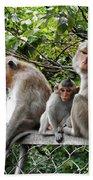 Cambodia Monkeys 5 Bath Towel