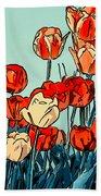 Camille's Tulips - Version 3 Bath Towel