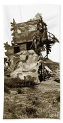 Camouflage Observation Tower Near Asilomar And The Point Pinos Lighthouse 1941 Bath Towel