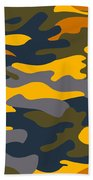 Camouflage Pattern Background Seamless Clothing Print, Repeatabl Bath Towel
