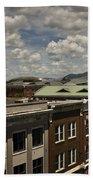 Campbell Avenue Rooftops Roanoke Virginia Bath Towel