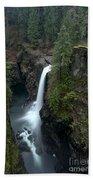 Campbell River Rain Forest Falls Bath Towel