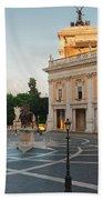 Campidoglio Square In Rome Bath Towel
