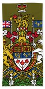 Canada Coat Of Arms Bath Towel