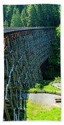 Canada National Historic Wooden Trestle- Kinsol Trestle Near Shawnigan Lake, Bc Canada. Bath Towel