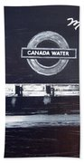 Canada Water Music Bath Towel