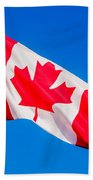 Canadian Flag Bath Towel
