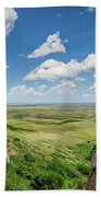 Canadian Prairie At Head-smashed-in Buffalo Jump Hand Towel