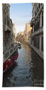 Canal And Gondola Bath Towel