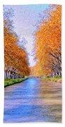 Canal Du Midi Bath Towel