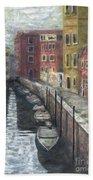 Canal In Venice Bath Towel