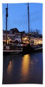 Canal Thorbeckegracht In Zwolle In The Evening Bath Towel