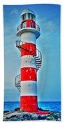 Cancun Lighthouse  Bath Towel