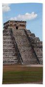 Cancun Mexico - Chichen Itza - Temple Of Kukulcan-el Castillo Pyramid 2 Bath Towel