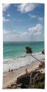 Cancun Mexico - Tulum Ruins - Caribbean Beach Bath Towel