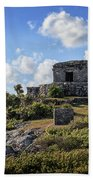 Cancun Mexico - Tulum Ruins - Temple For God Of The Wind 2 Bath Towel
