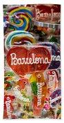 Candy Stand - La Bouqueria - Barcelona Spain Bath Towel