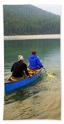 Canoeing Glacier Park Bath Towel