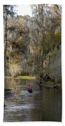 Canoeing In Florida Bath Towel