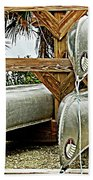 Canoes At Canaveral National Seashore Bath Towel