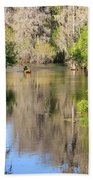Canoing On Hillsborough River Bath Towel