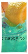 Cant You Taste It Quote Bath Sheet