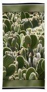 Canvas Of Cacti Bath Towel