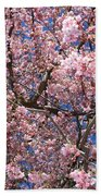 Canvas Of Pink Blossoms Bath Towel
