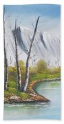 Winter Season - Mountains Bath Towel