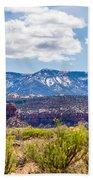 Canyon Badlands And Colorado Rockies Lanadscape Bath Towel