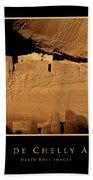 Canyon De Chelly Arizona Black Border Bath Towel