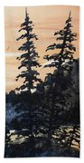 Canyon Trees, Watercolor Bath Towel