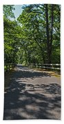 Cape Cod Rail Trail Trees Eastham Ma Fence Bath Towel